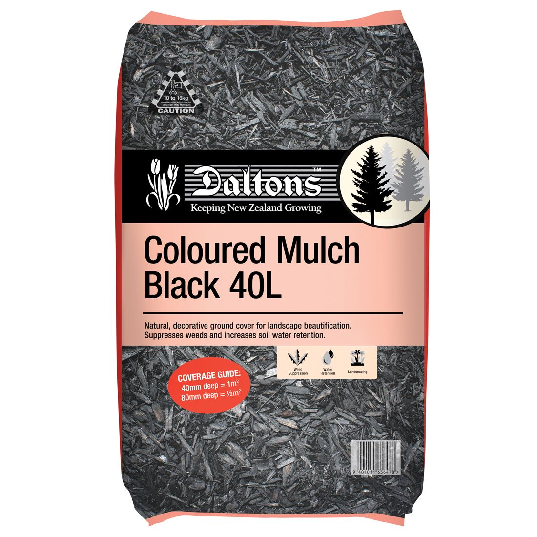 Coloured Mulch Black 40L Bag