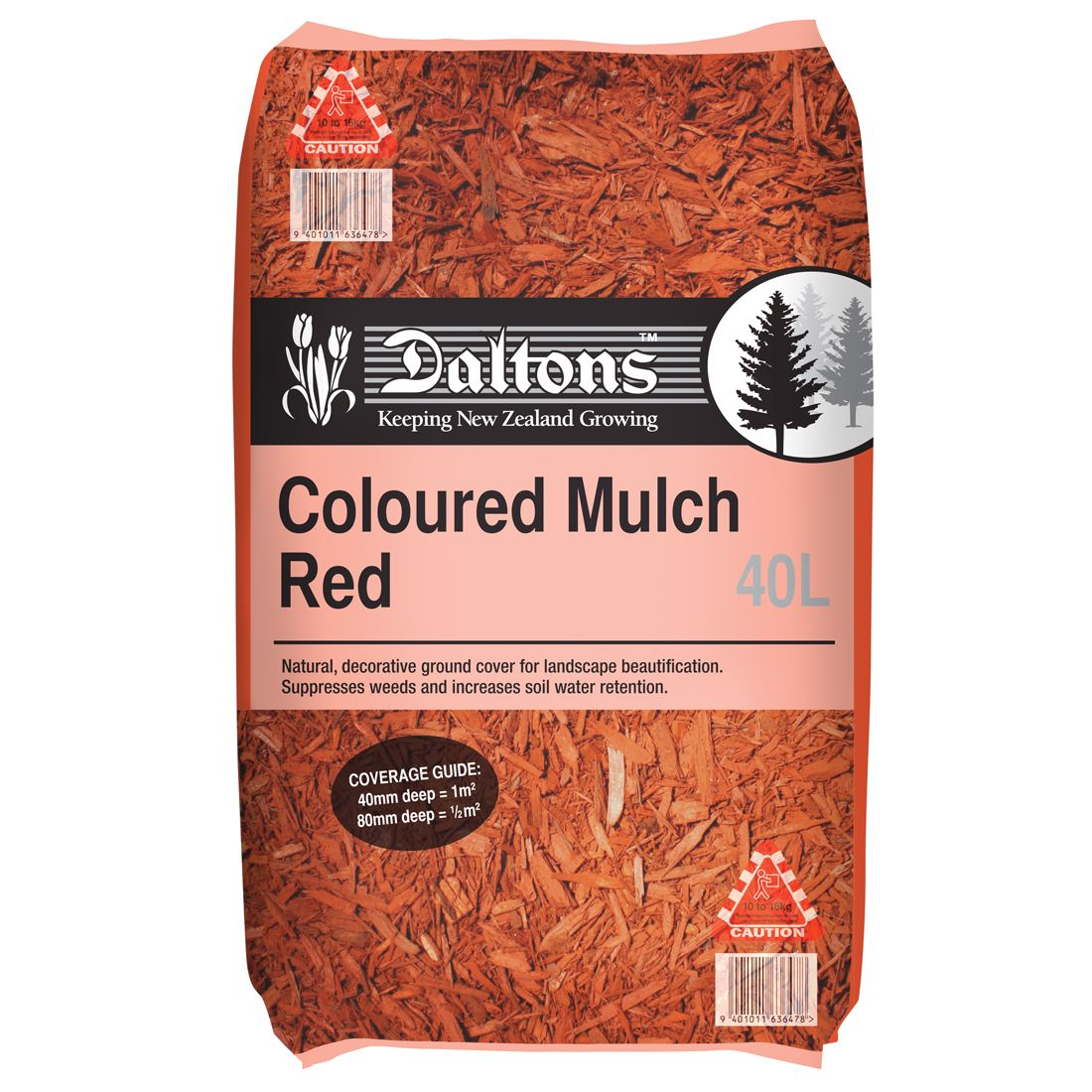 Coloured Mulch Red 40L Bag