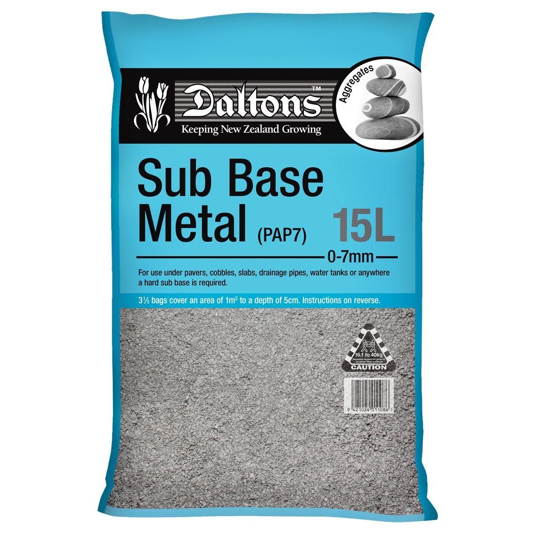 Sub Base Metal 15L Bag