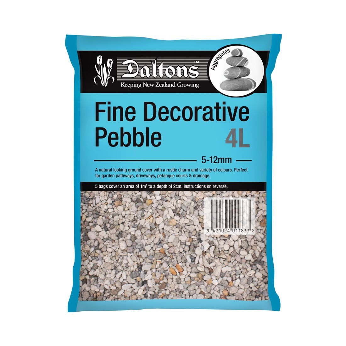 Fine Decorative Pebble 4L Bag