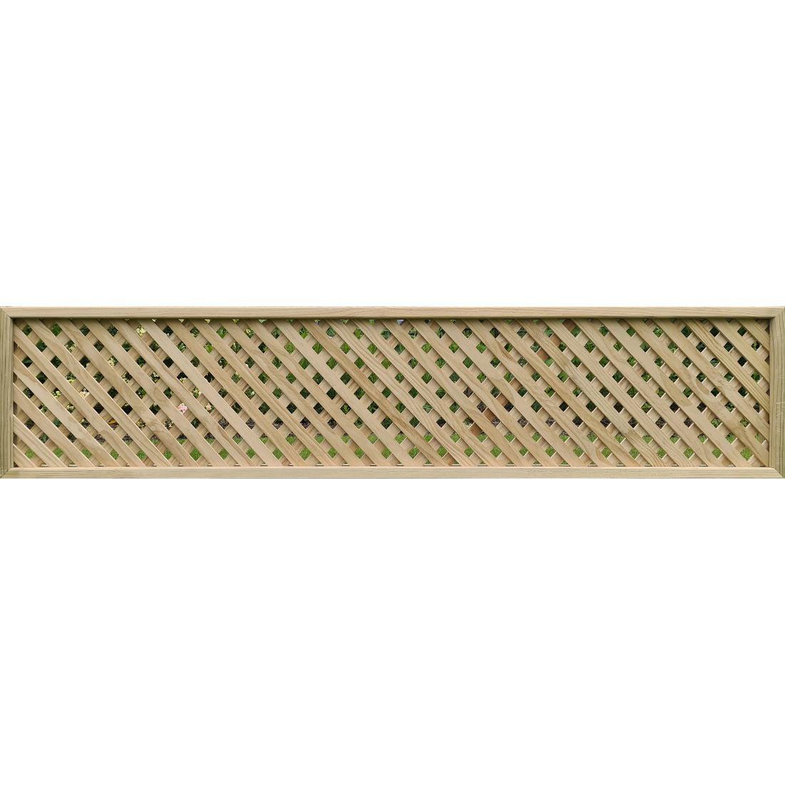 Trellis Heavy Framed Fencetop Diagonal 2400 x 500 x 10mm