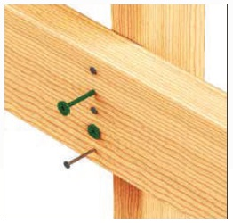 StudLok Green Head Structural Stringer to Stud Screw each SL125