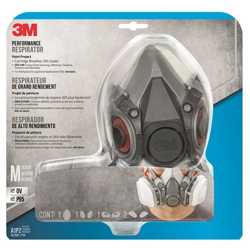 OV/P95 6311P1 Performance Paint Project Respirator Large
