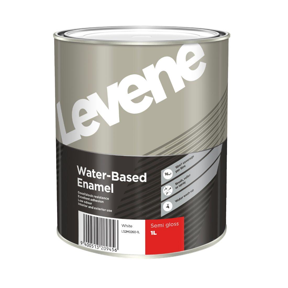 Water Based Enamel Semi Gloss Black 1L