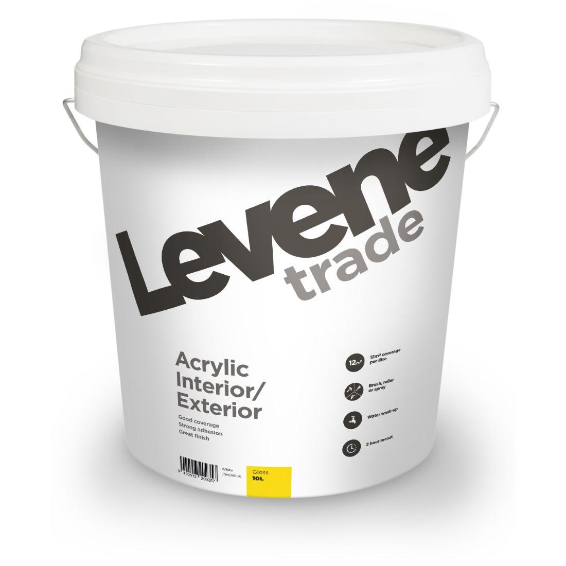 Trade Acrylic Interior Exterior Gloss White 10L