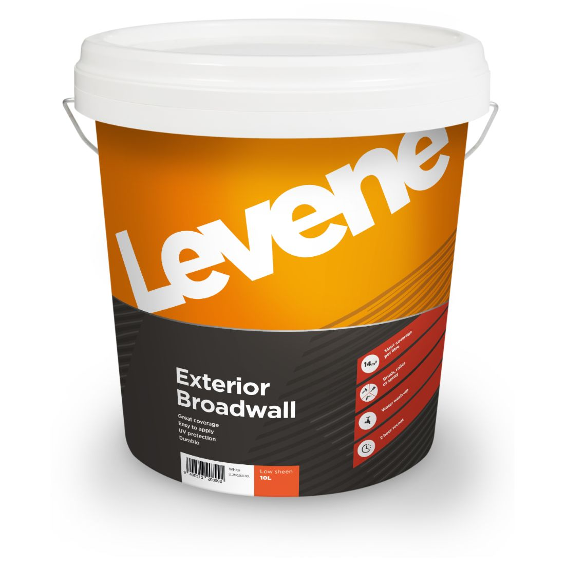 Exterior Low Sheen White 10L
