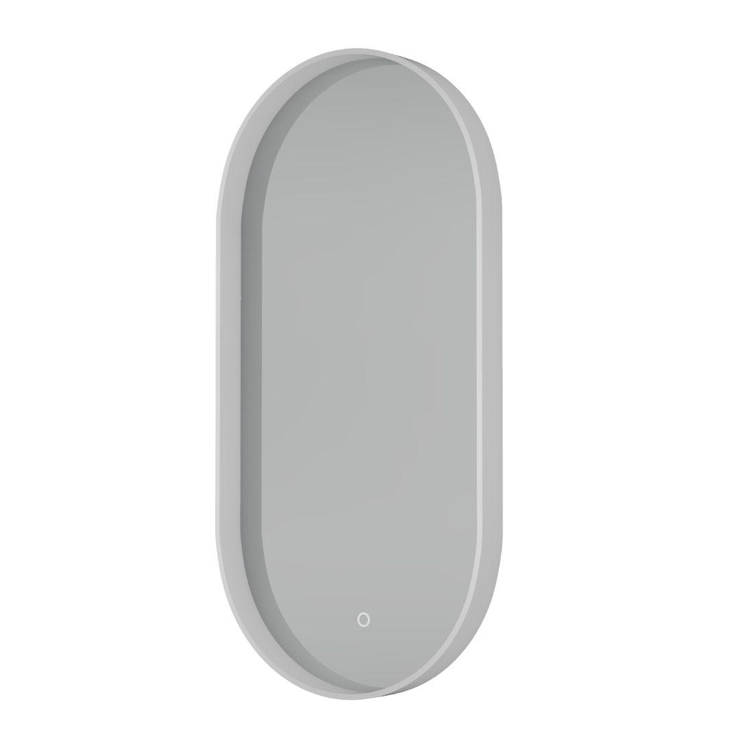 Shadow Mirror LED Demister Pill Shape White