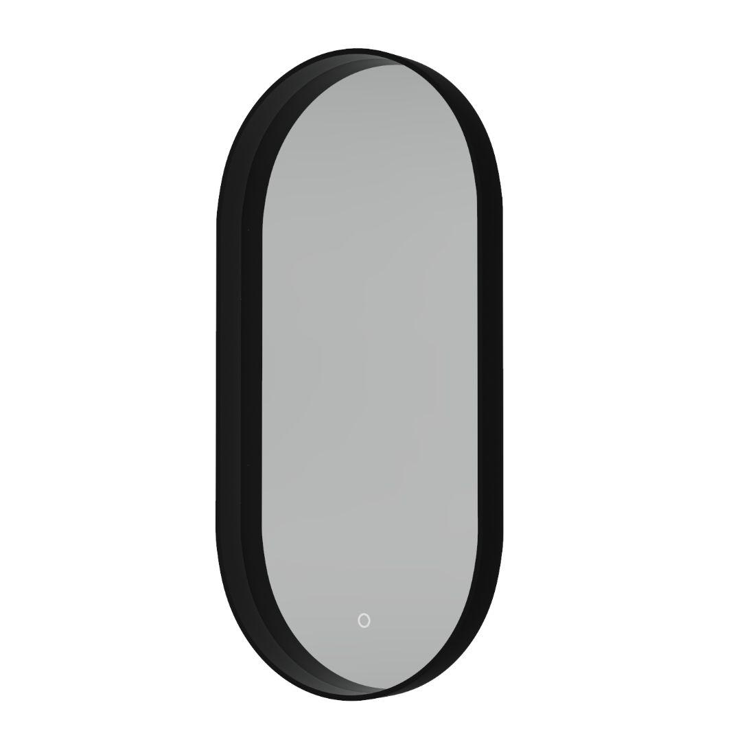 Shadow Mirror LED Demister Pill Shape Black