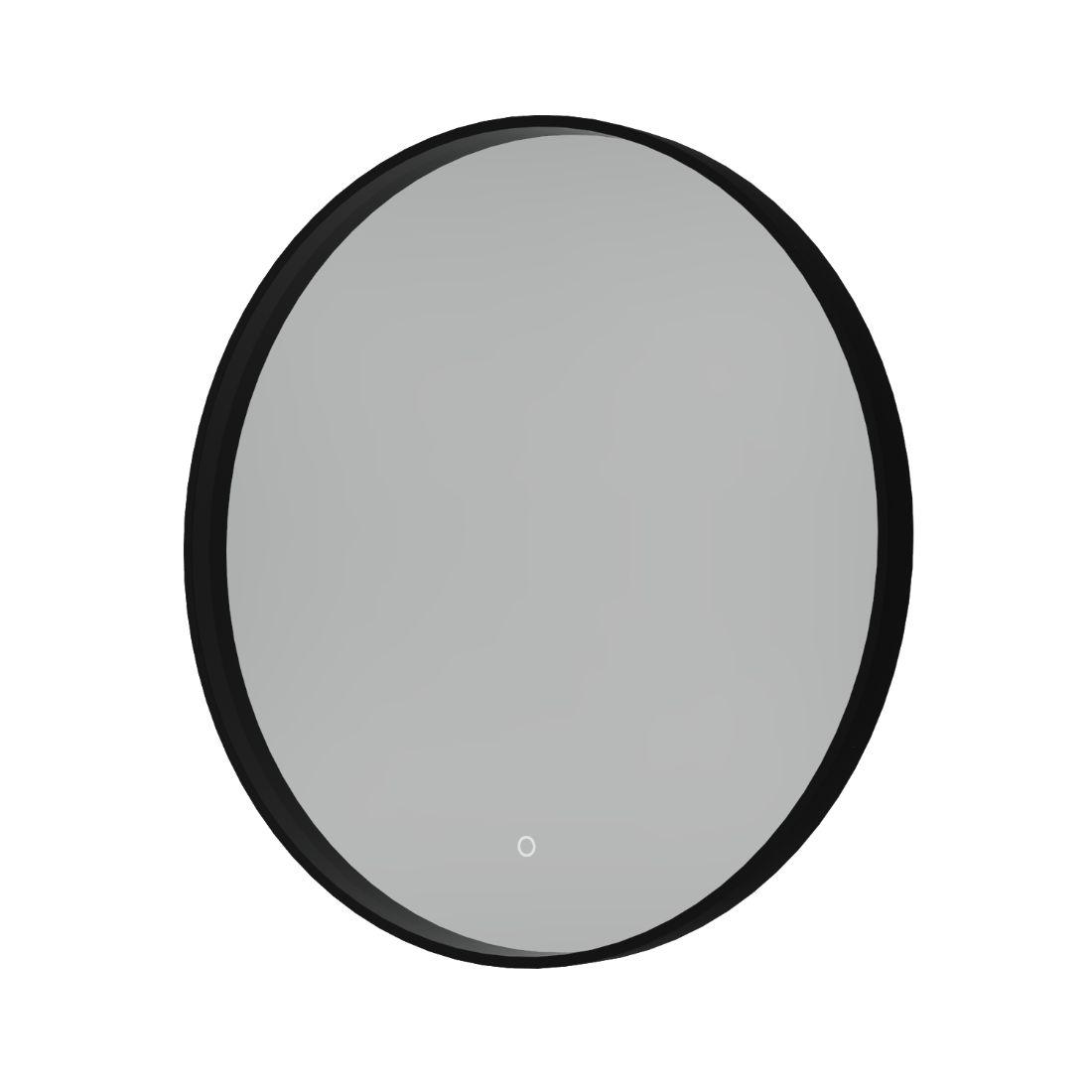 Shadow Mirror LED Demister 800mm Round Black