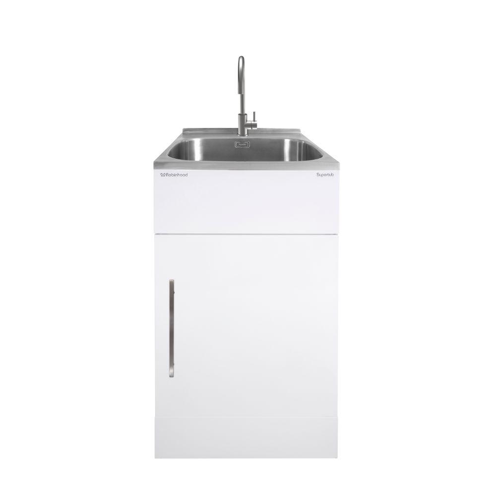 Supertub Series III Standard Size 1 Door White Finish with Stainless Steel Gooseneck Tap ST3103