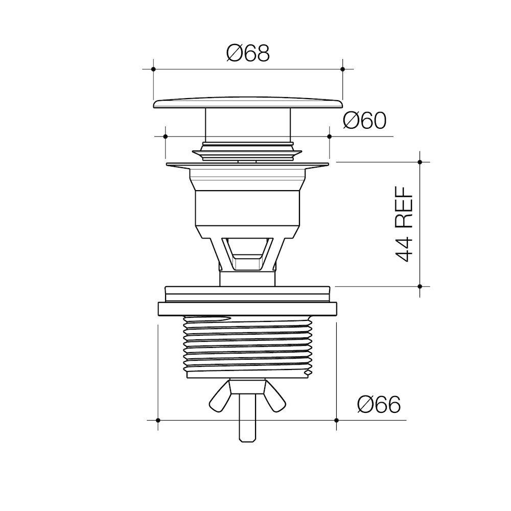 Urbane II Basin Dome Pop-Up Plug and waste Gunmetal 687330GM