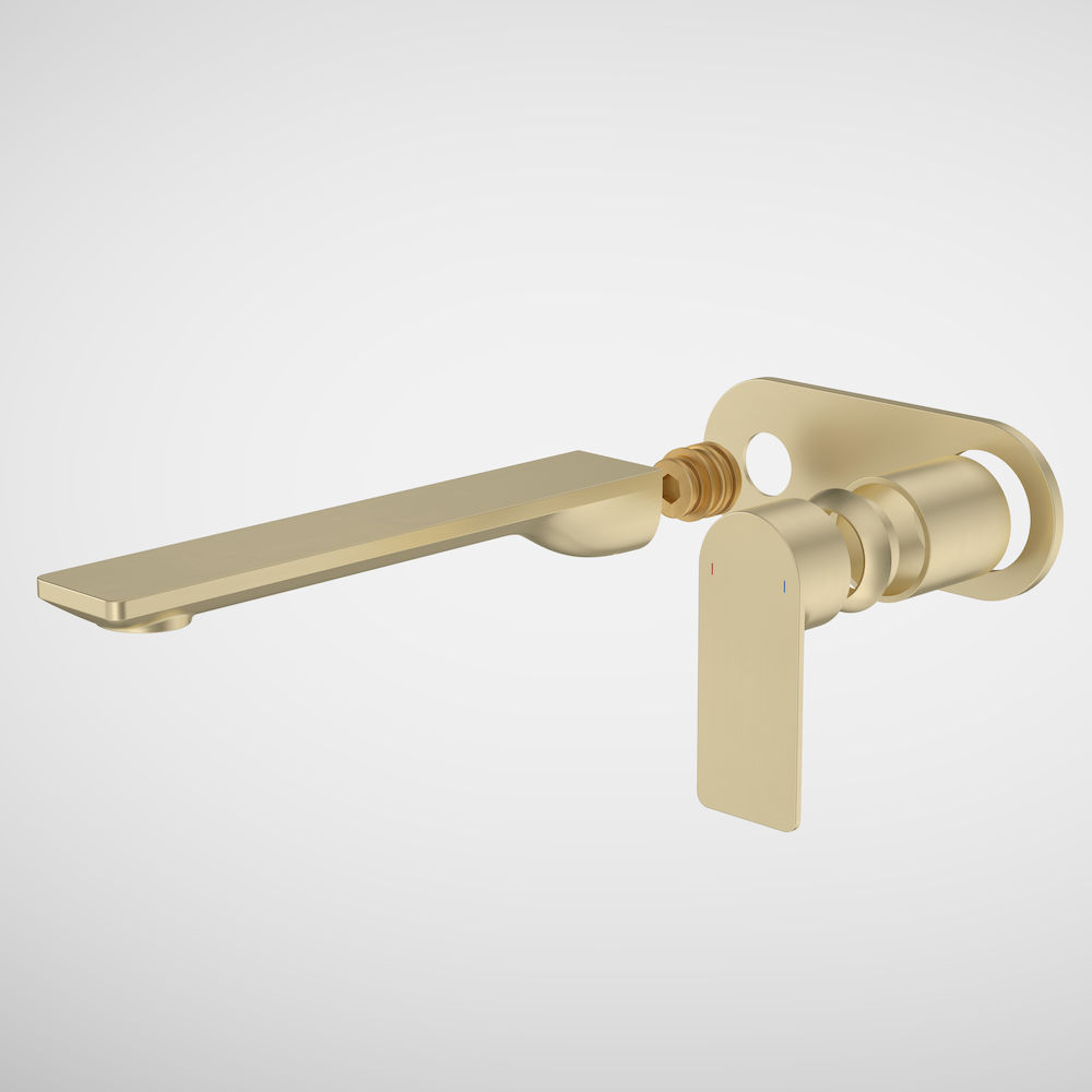Urbane II 220mm Wall Basin/Bath Trim Kit Round Cover Plate Brushed Brass 99645BB6A