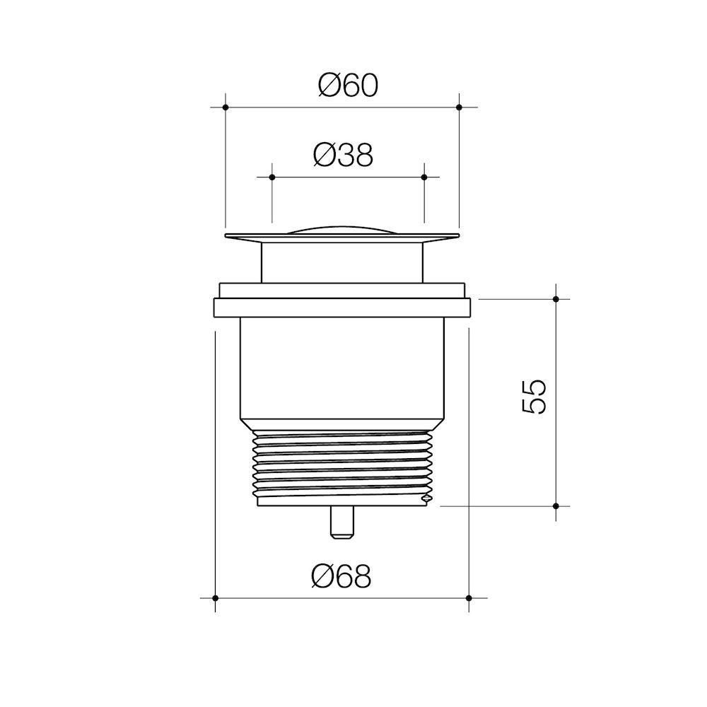 Urbane II Bath Pop-Up Plug and waste Brushed Brass 323060BB