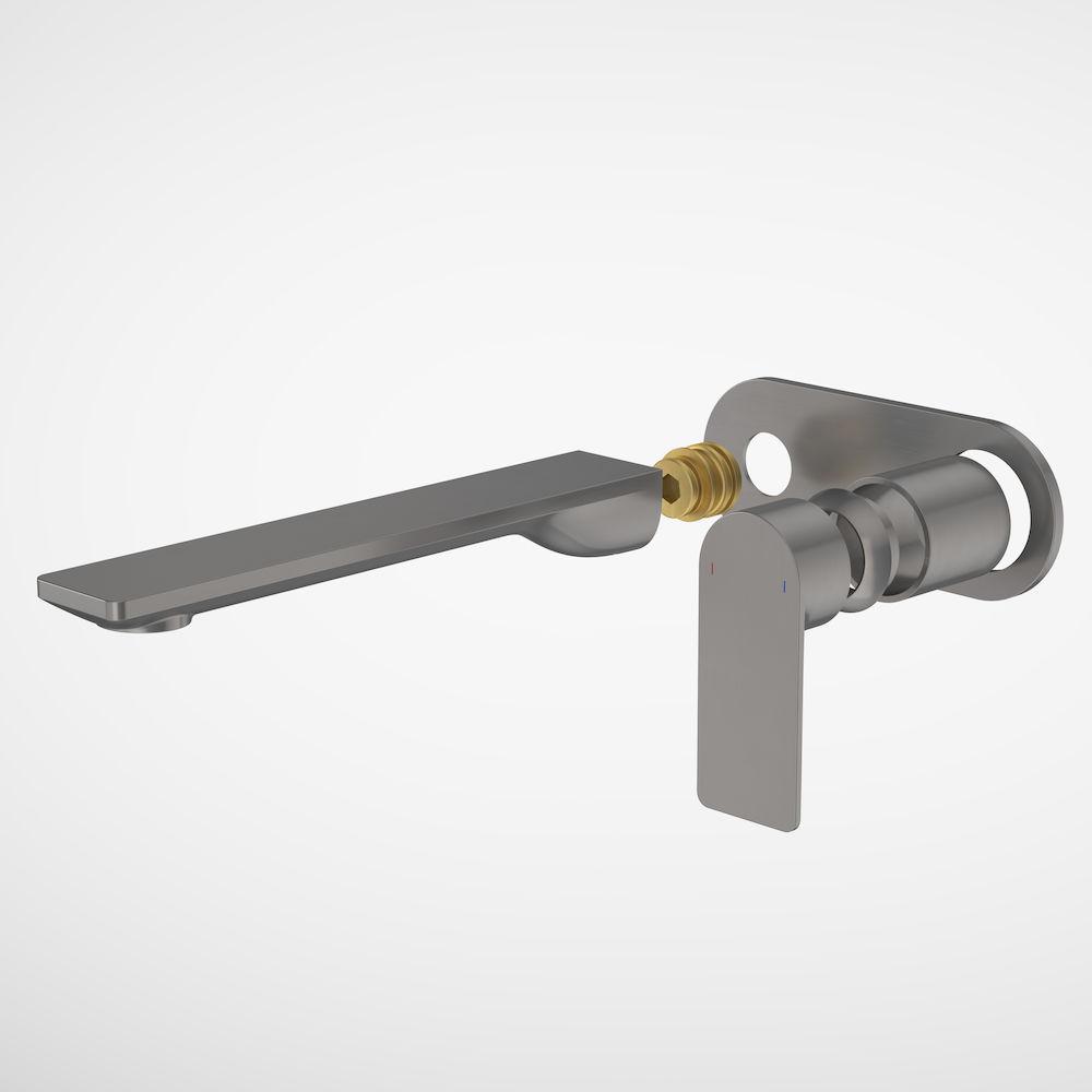 Urbane II 220mm Wall Basin/Bath Trim Kit Round Cover Plate Gunmetal 99645GM6A