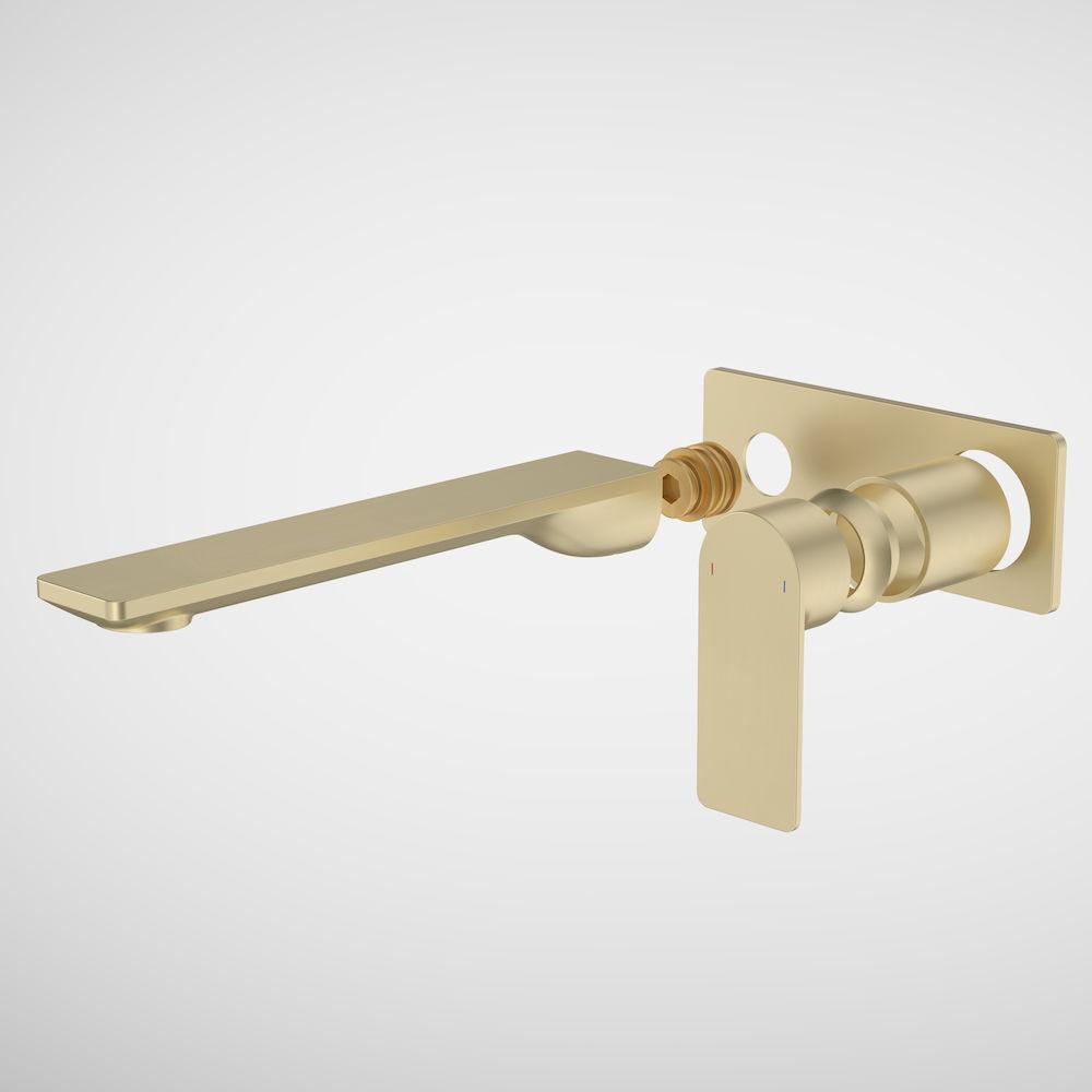 Urbane II 220mm Wall Basin Bath/Bath Trim Kit Rectangular Cover Plate Brushed Brass 99646BB6A
