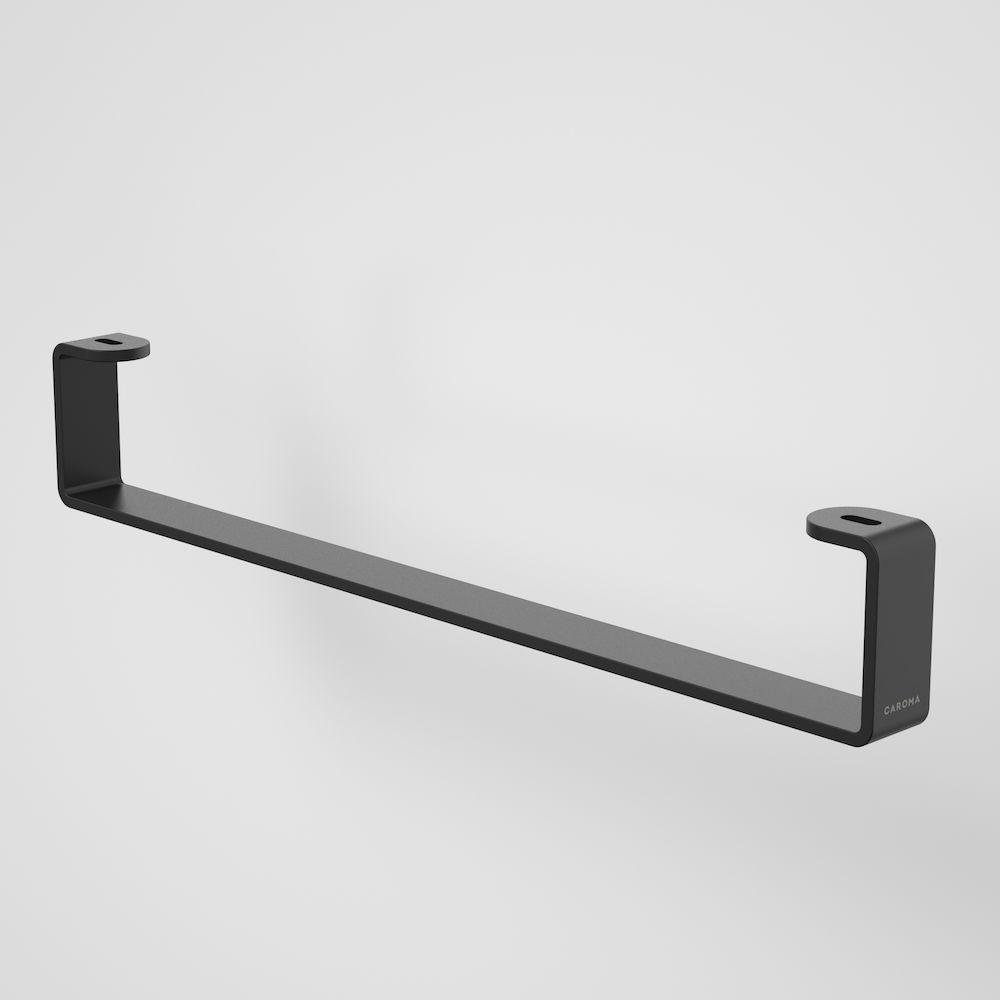 Urbane II Hand Wall Basin Integrated Rail Matte Black 99623B