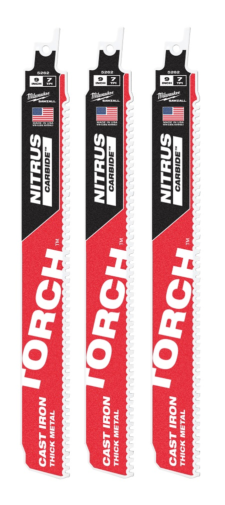 Torch with Nitrus Carbide 7TPI 230mm 3 Pack 48005362