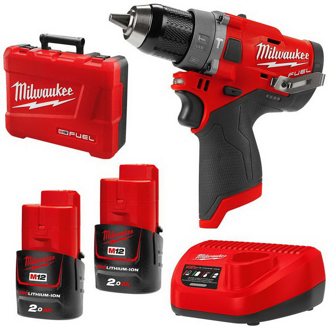 M12 FUEL Cordless Hammer Drill and Driver Combo Kit 13mm 2.0Ah