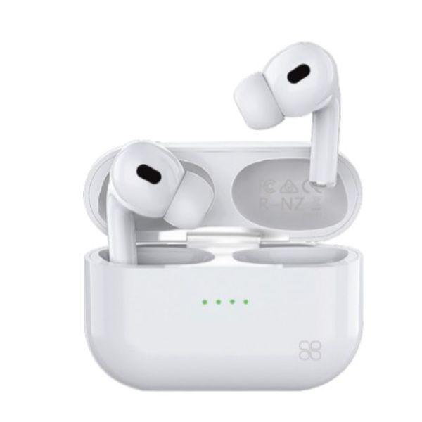 Harmoni Sleek Bluetooth Earphones with Charging Case White