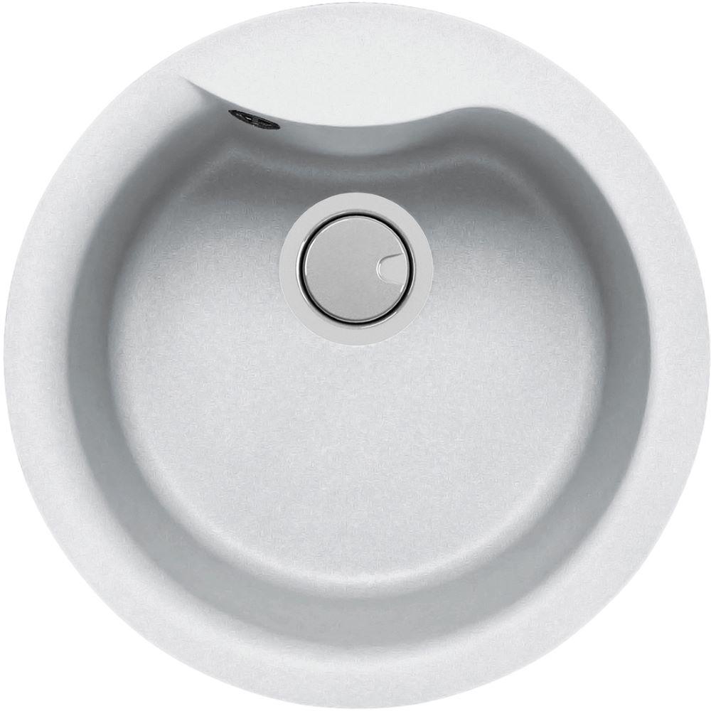 Duro Granite Bari Single Round Bowl DG090T-W White