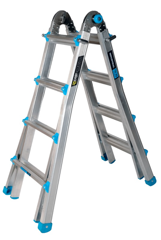 150kg Multi Purpose 4-Step All-in-One Telescopic Ladder 1.2-4.5m