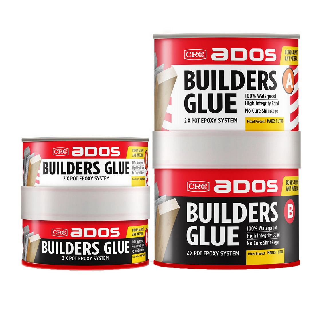 500mL Builders 2 Part Epoxy Glue Tan