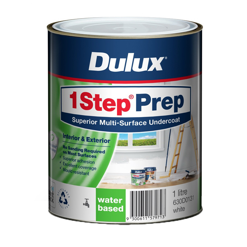 1Step Prep 1L Multi Surface Water Based Primer Sealer Undercoat White