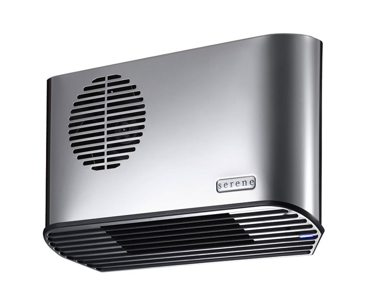 Serene All Metal 2.24kW Electric Bathroom Heater Stainless Steel