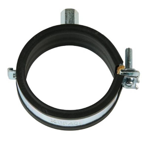 Aqualine Aquaclip 1-Bolt Insulated Hinged Munzing Ring 32 mm Copper/PVC Zinc Plated MRQ32