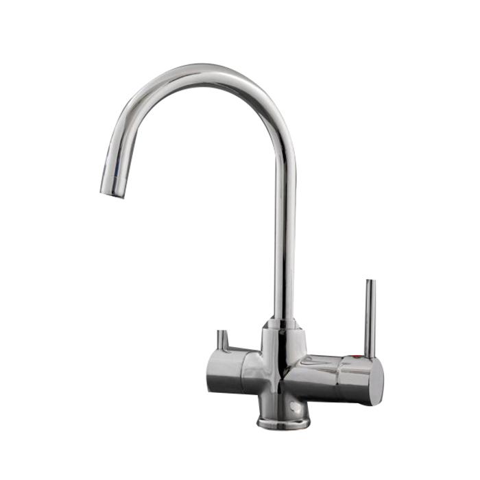 Gooseneck Sink Mixer with Water Filter Chrome