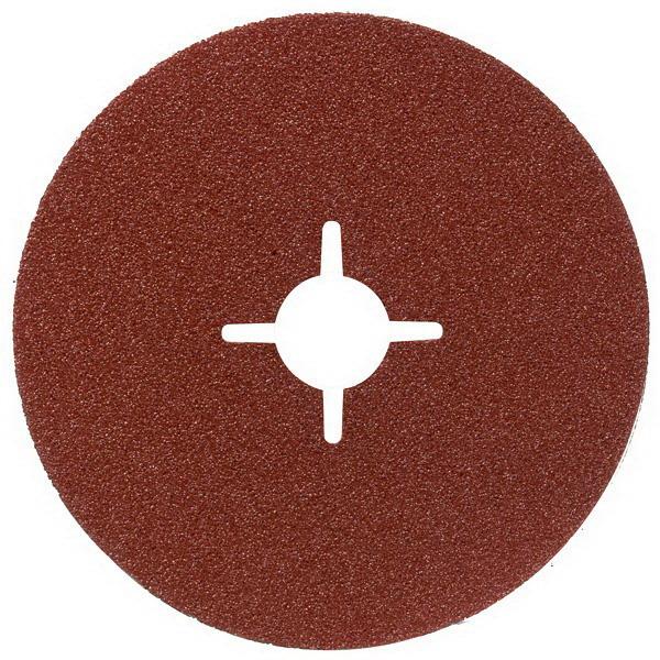 R444 Round Fibre Sanding Disc For Metal 115 x 22.23mm Aluminium Oxide 60 Grit 2608605466