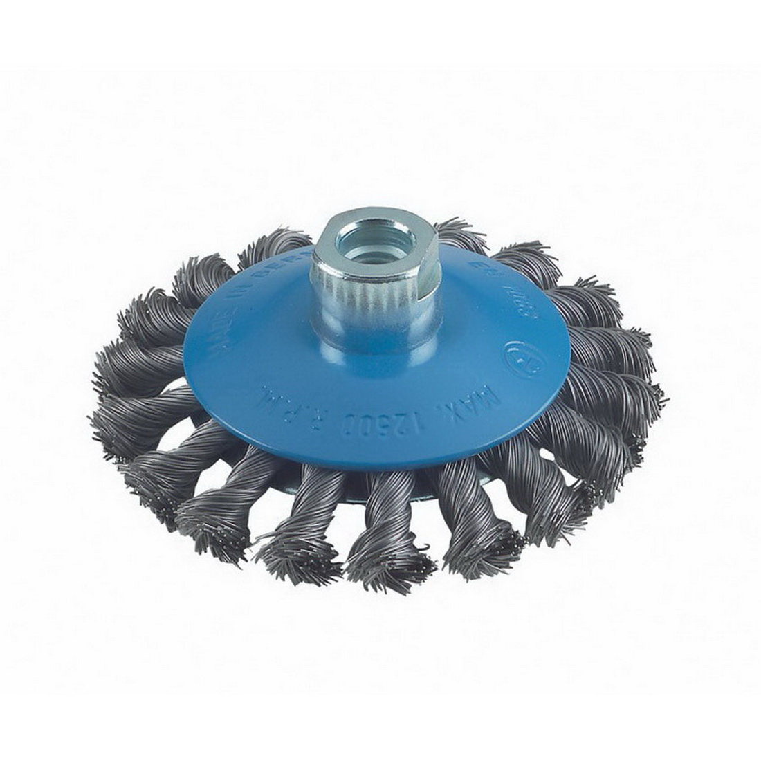 Knotted Wire Tapered Wheel Brush 100 x 14 x 0.5mm 12500rpm 2608622011
