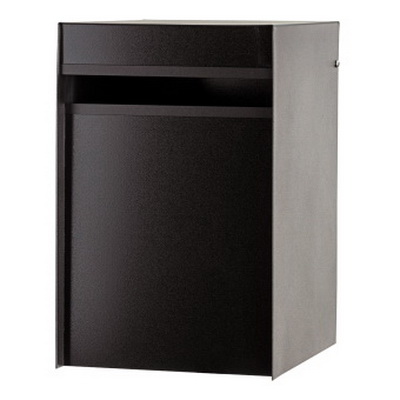 Designer Back Open Letter Box 250 x 300 x 390 in Black DLBBLK