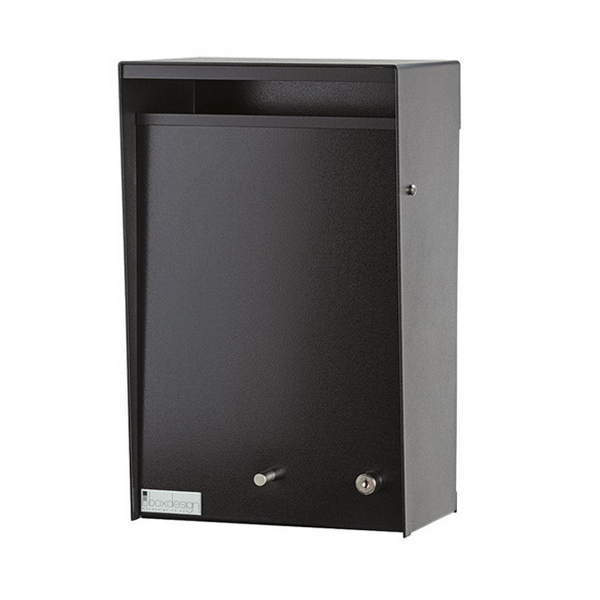 Wall Mount Letter Box 250 x 180 x 400 in Black WMBLK