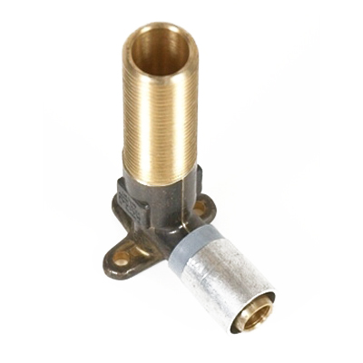 Buteline 90 deg Wingback Elbow 1/2 in x 15 mm Male BSP x Clamp Brass with Aluminum Alloy Sleeve WM15