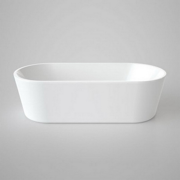 Caroma Aura 1800 Oval Freestanding Bathtub 1775 x 805 x 560mm Acrylic White