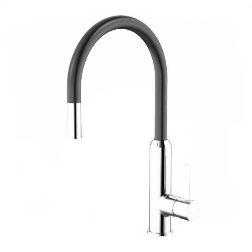 Vixen Retractable Sink Mixer Black/Chrome