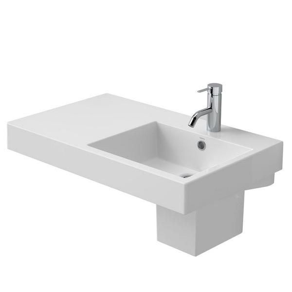 Caroma Liano Nexus 750 Rectangular Left Hand Shelf Wall Basin White 5.5 L 173 x 450 x 750 mm