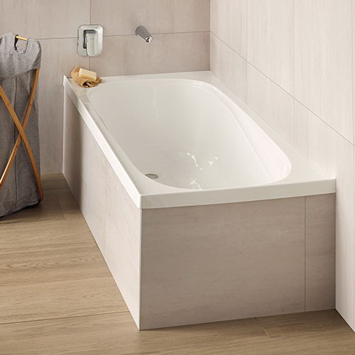 Clearlite Pacific Bath 1655 x 740 x 405 mm White Anti Slip Tread Pattern 0108000006