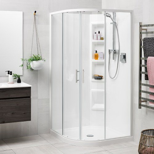 Clearlite Cezanne Moulded Round Shower 1000 x 1000 mm Bright 1CZ2B11RMCRX