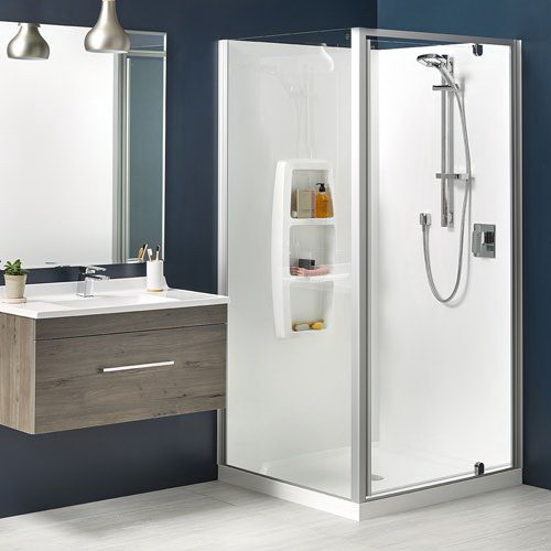 Clearlite Sierra 3 Sided Moulded Shower 900 x 900 mm White 1SI2W999MB9X