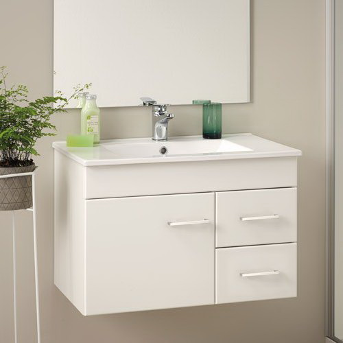 Clearlite Cashmere Classic Floorstanding/Wall-Hung Vanity 750 mm White Melamine 4CAS075CM