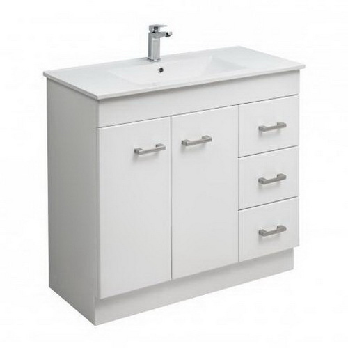 Clearlite Cashmere Classic Floorstanding/Wall-Hung Vanity 900 mm White 4CAS090CC