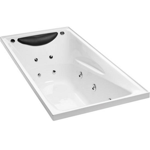Englefield Studio II Rectangular Spa Bath 1670 x 760 mm White 1063A-ABCP5-0