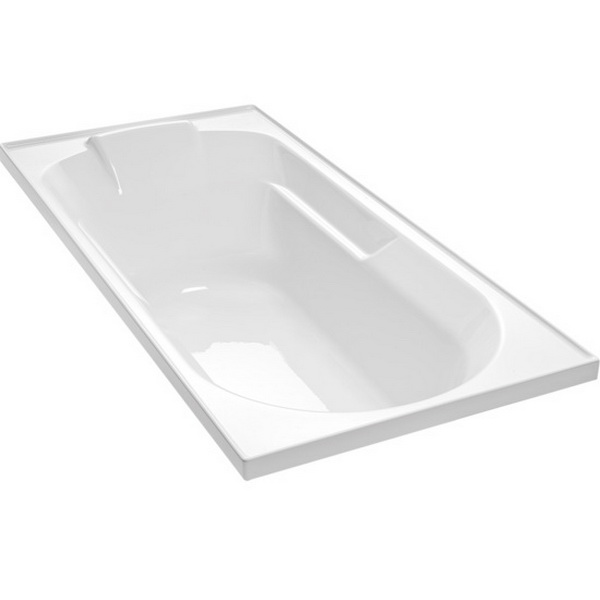 Englefield Sorrento II Rectangular Bath 1670 x 760 mm White 1073A-0