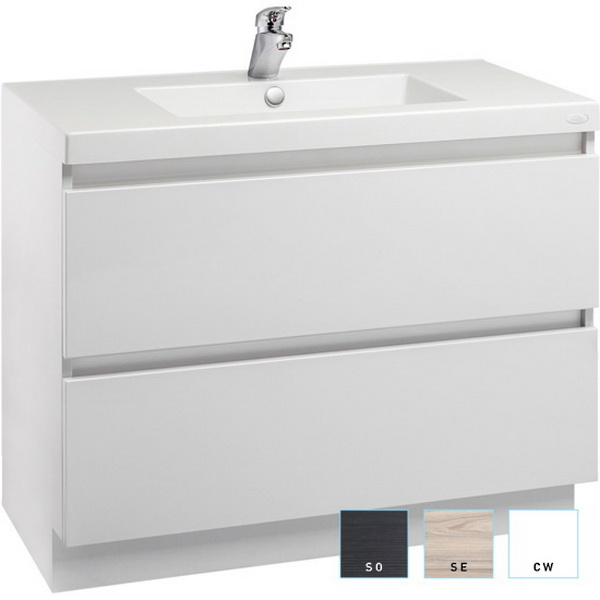 Englefield Valencia Wall-Hung Vanity 900 x 650 x 465 mm Scorched Pak 99230A-DW