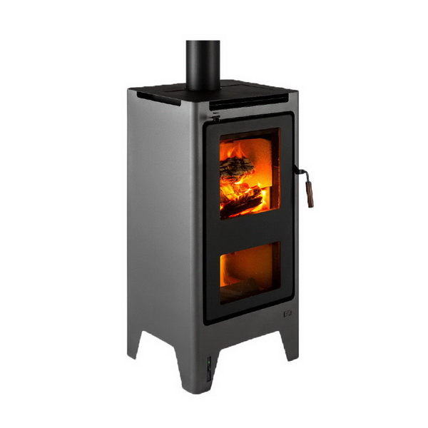 Ferva Saturn Ultra Low Emissions Wood Burner 18.9kW Pewter
