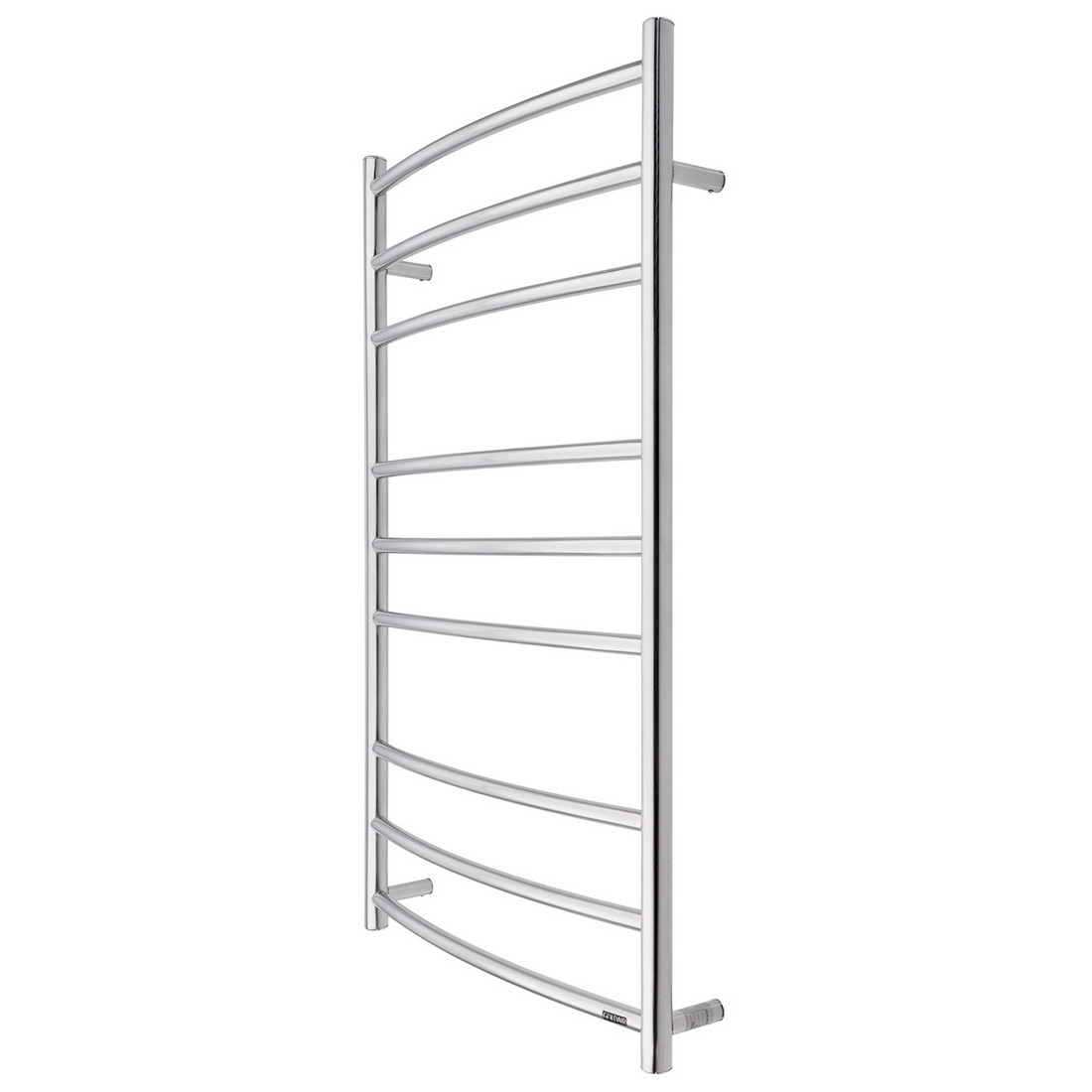 Goldair Dual Round Heated Towel Rail Ladder 1030 x 630 mm Scratch-Resistant 9 Bars GLTR9C