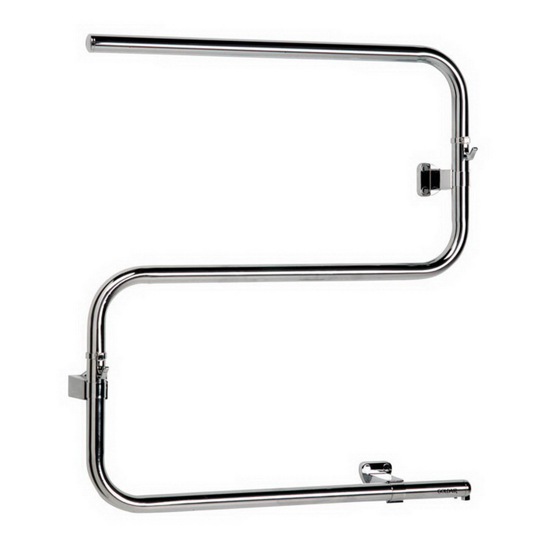 Goldair Medium Heated T-Rail Mid Size Towel Rail 615 x 575 mm Chrome Stainless Steel GTRMC
