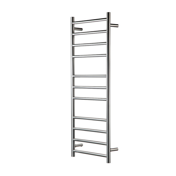 Heirloom Genesis Ladder Round Heated Towel Warmer Polished Stainless Steel 1220 mm